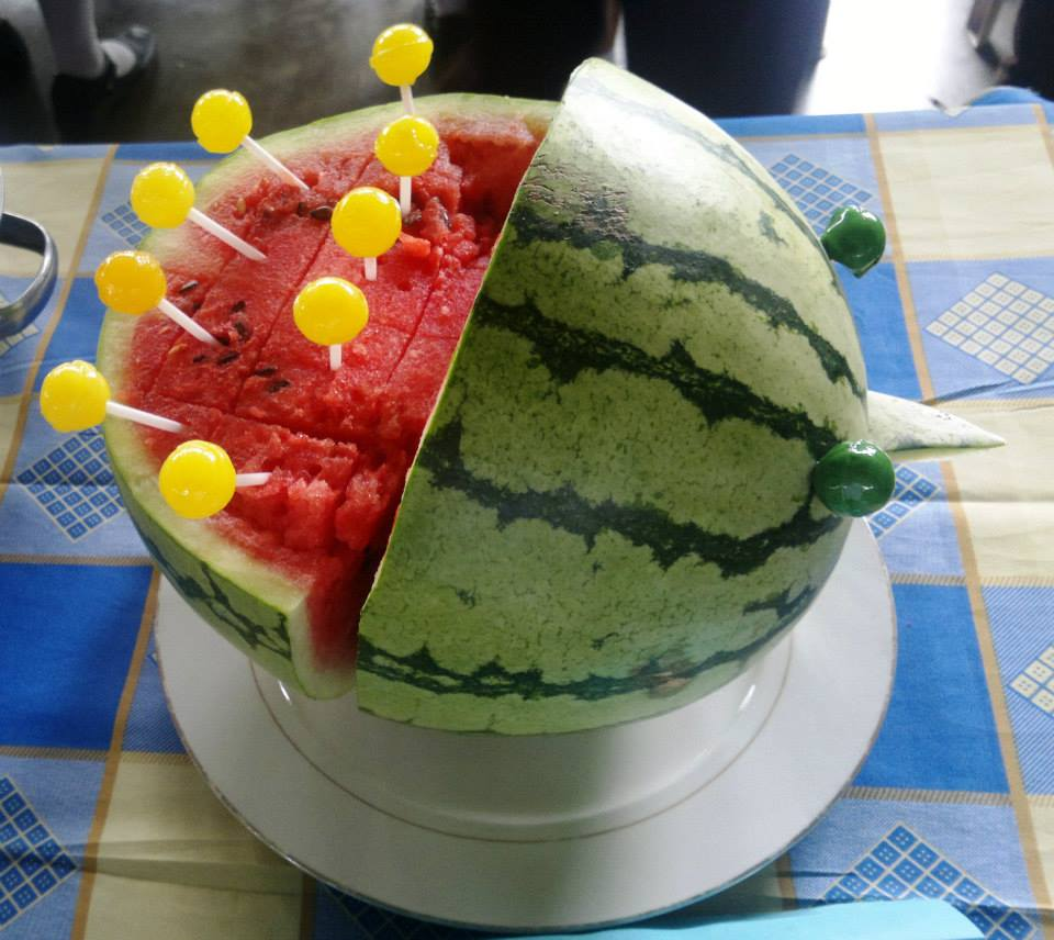 Food Art - Watermelon witH lollipop