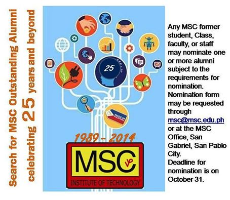 The Search for the Outstanding MSC Alumni is On!